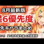【プリコネ】星6開放優先度 8月最新版 優先キャラまとめ【プリンセスコネクト!】
