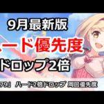 【プリコネ】ハード2倍ドロップ 周回優先度 9月最新版【プリンセスコネクト!】